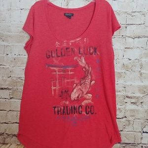 { Brand} lucky coy fish shirt